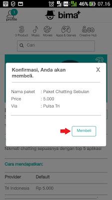 cara beli paket chatting 3 tri terbaru