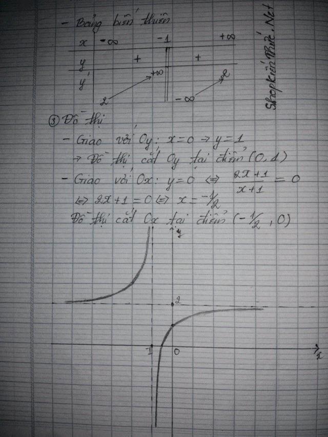 Bài tập mẫu khảo sát hàm số hữu tỉ - trang 2