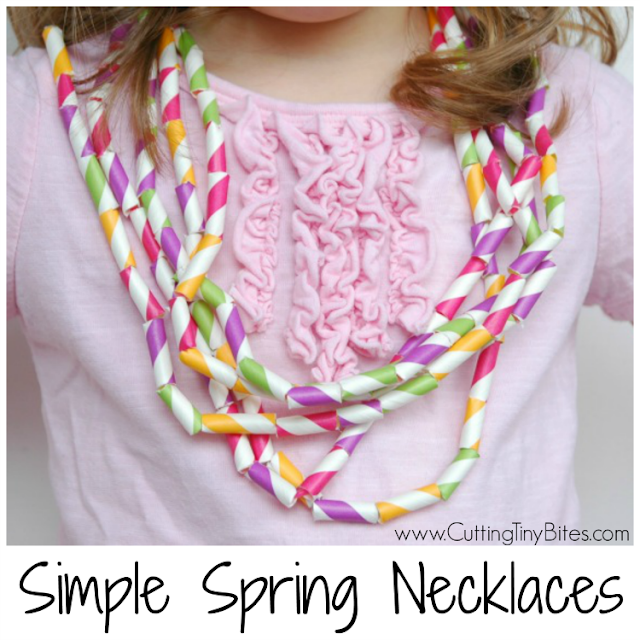 Fun fine motor craft for kids. Great for spring or Easter! Also great to work on patterning or other math skills.