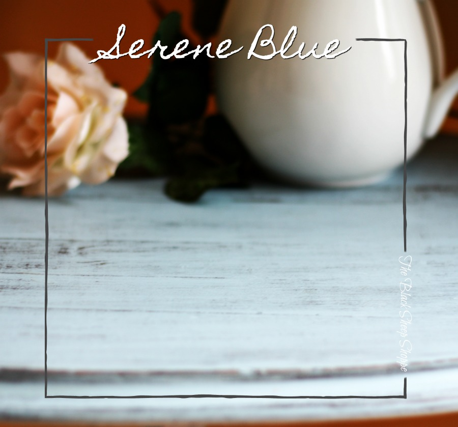 Serene blue chalk style paint by American Decor.