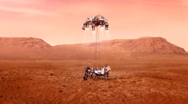 El rover Perserverance aterrizó en Marte este jueves
