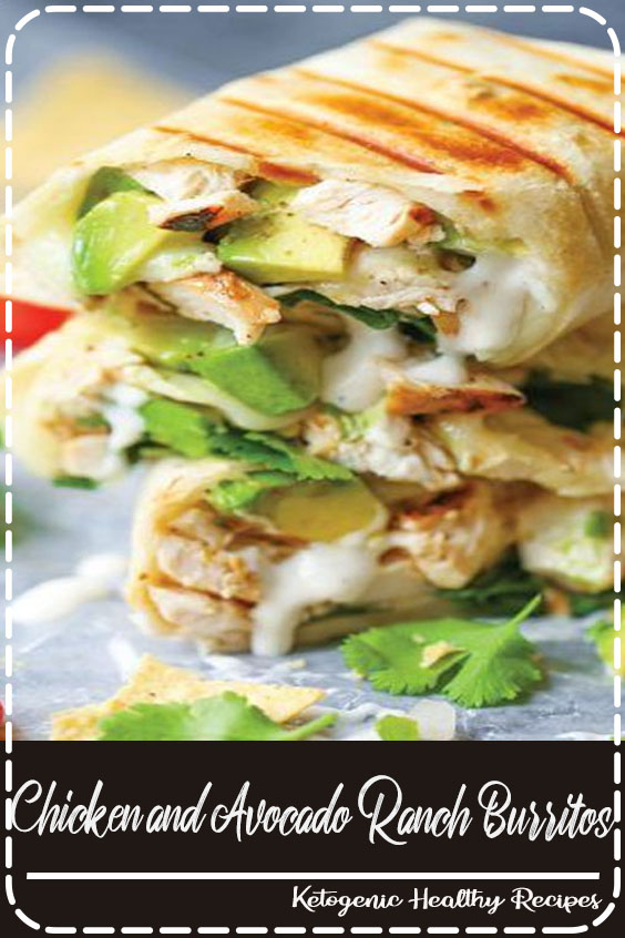 Chicken and Avocado Ranch Burritos