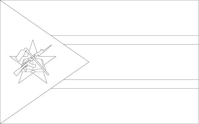 coloriage drapeau mozambique