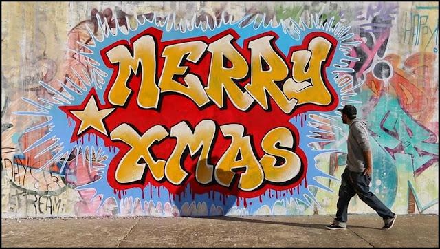 Graffiti Schrift Frohe Weihnachten