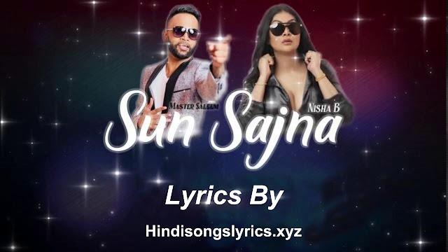 Sun Sajna Lyrics