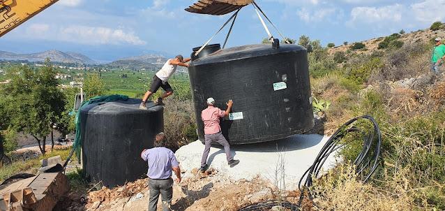 Νέα μεγαλύτερη υδατοδεξαμενή στο Δρέπανο Αργολίδας από την ΔΕΥΑ Ναυπλίου