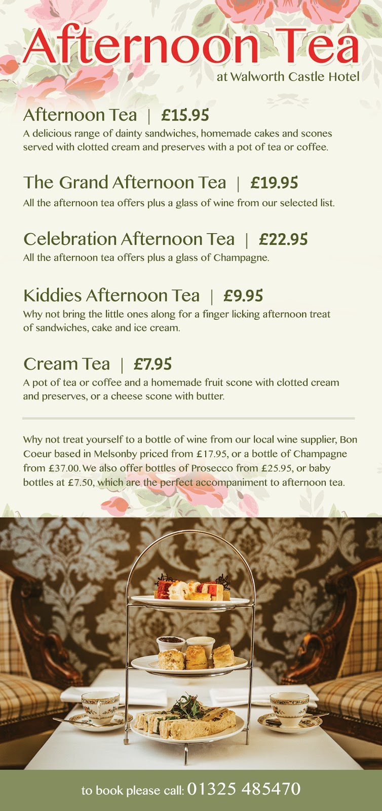 20+ Places you can book Children's Afternoon Tea in North East England - walworth castle