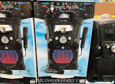 Bring out your inner Taylor Swift with the Singing Machine Portable Hi-Def Karaoke System SDL9035