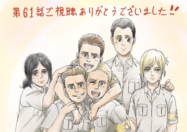 Shingeki no Kyojin: The Final Season conmemora con una ilustración su segundo episodio