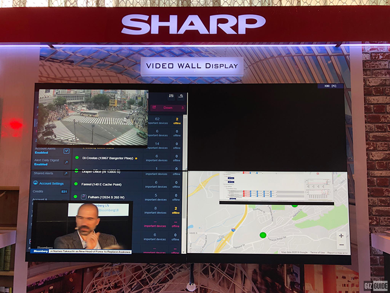 Sharp Video Wall Display