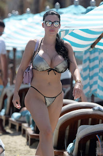 Aletta Ocean was spotted putting on a busty display on holiday in Mykonos, Greec