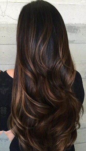 Flattering Caramel Highlights On Dark Brown Hair - Hair Fashion Online