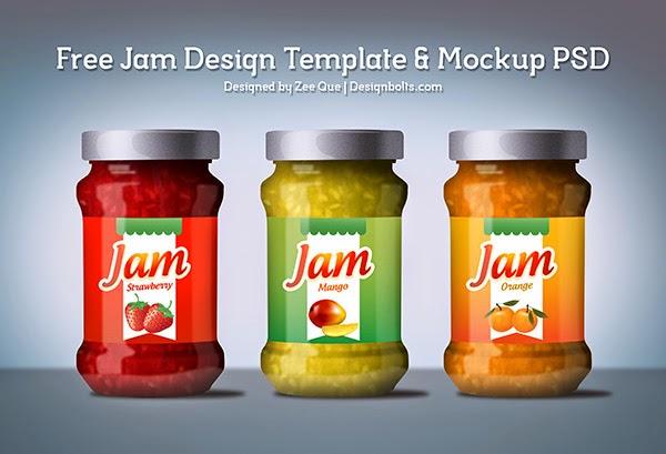 Jam Label Mockup Template