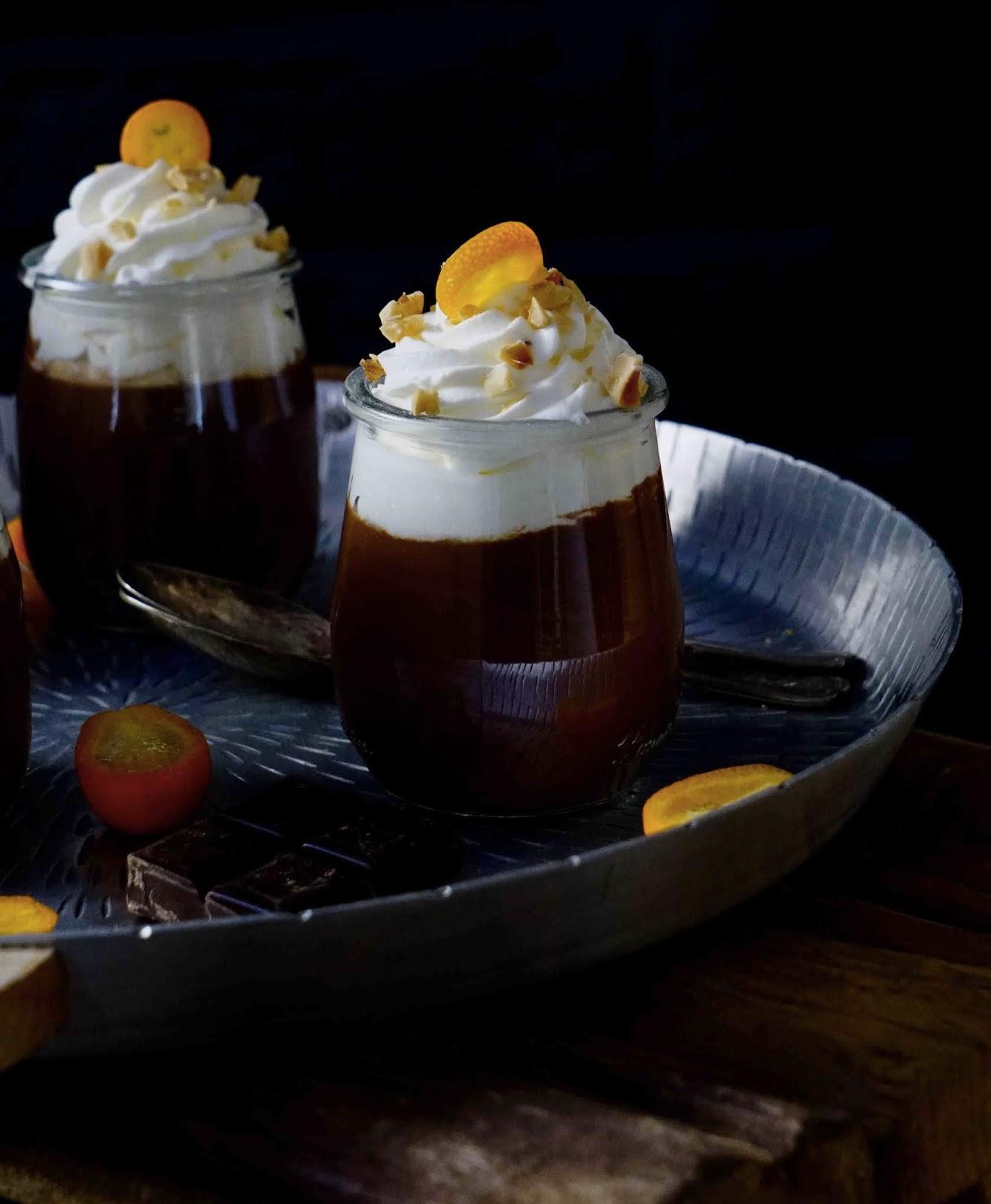 crème au chocolat noir , dessert facile ,dessert rapide , dessert au chocolat