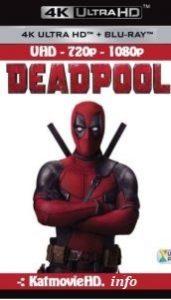 DeadPool 2016 Bluray 4K UHD 1080p 720p Dual Audio 5.1 Hindi+English x264 ESUB