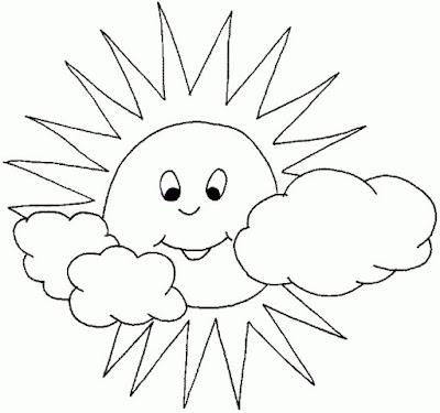 Gambar Mewarnai Matahari Dan Bulan Lucu Zona Ilmu 2