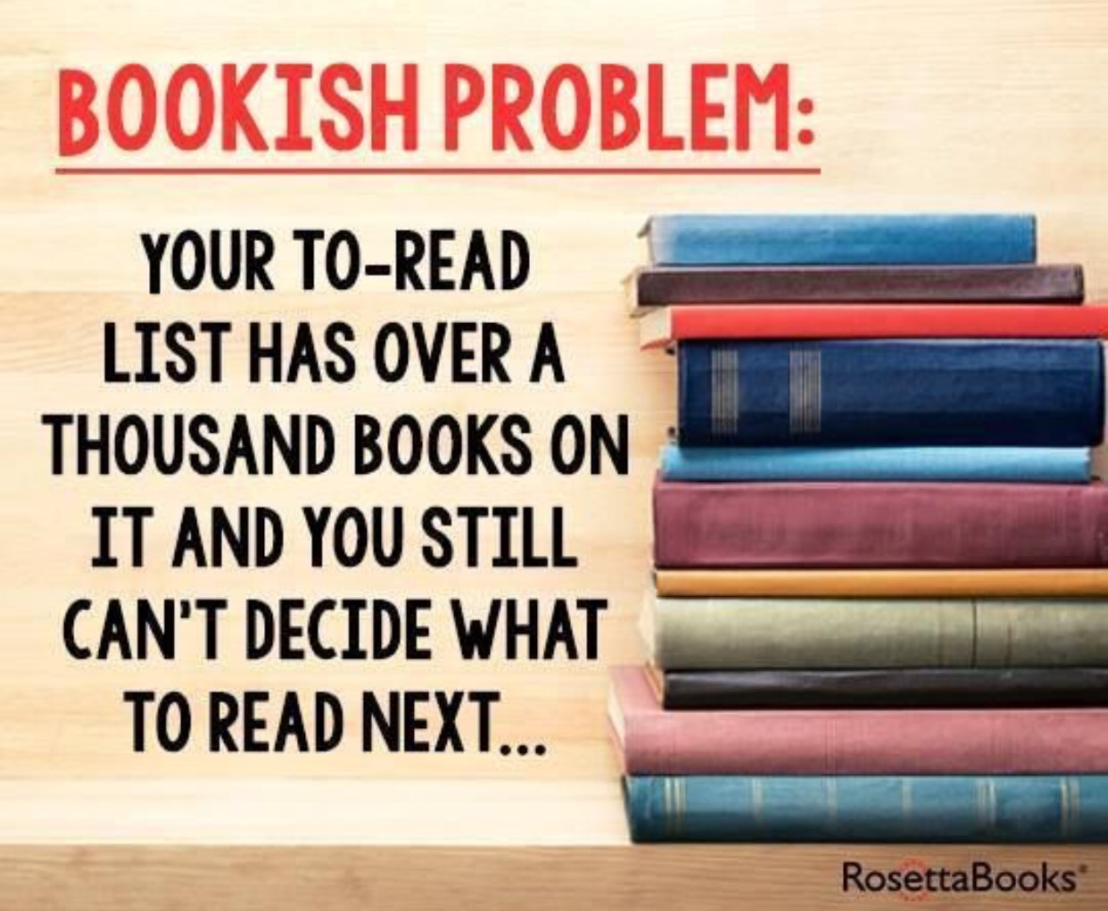 Image result for i can't choose what to read next""
