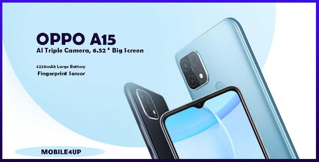 سعر ومواصفات هاتف OPPO A15 مميزاتة وعيوبة