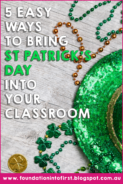 St Patrick's Day ideas for early years classroom. Perfect for primary school teachers, download free St Patrick day ideas. #foundationintofirst #stpatricksday #ireland #activities #kids