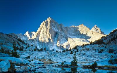Mountains, Snow, Reflection, Landscape