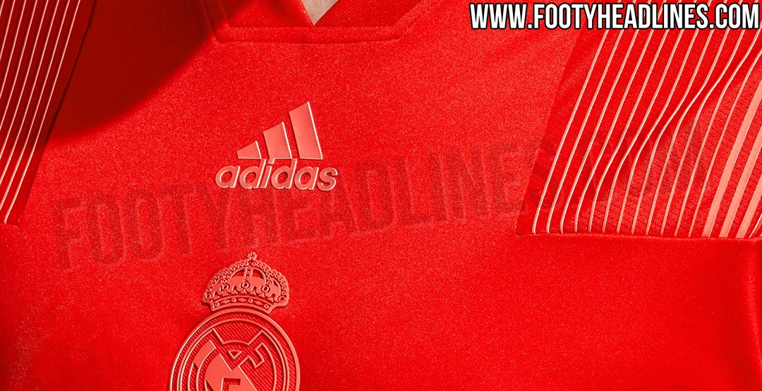 6bdba7175 The red Adidas Real Madrid 2018-19 Tango Jersey boasts the same colors as  the Madrid 18-19 third kit.