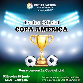 El trofeo de la Copa América llega a Outlet Factory Bogotá