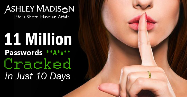 11 Million Ashley Madison Passwords Cracked In Just 10 Days