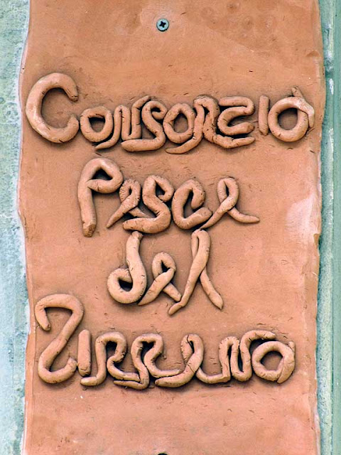 Sign, fish market, Livorno