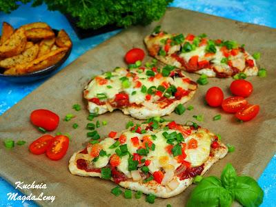 Filety z kurczaka jak pizza
