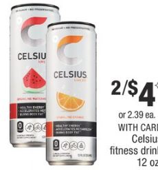 Celsius fitness drink cvs deal