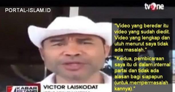 Victor Ngeles Sebut Video Telah Diedit dan Pidato Itu di Internal Partai Sehingga Tak Bisa Dipermasalahkan
