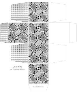 2x2x2 inch printable gift box