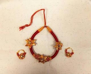 Gota Patti Crystal Floral Neckpiece Jewelry