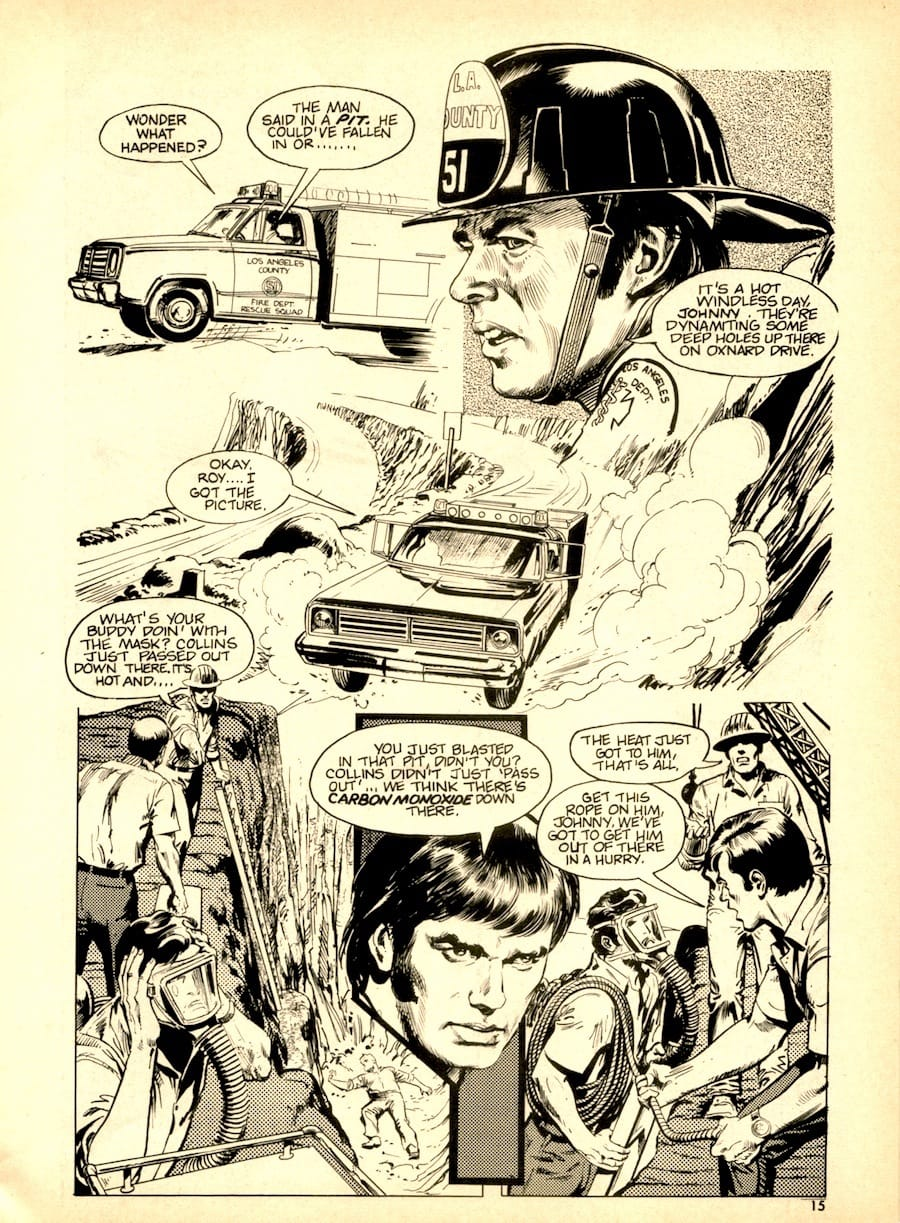 Emergency #1 comic book magazine page by Neal Adams circa 1970s
