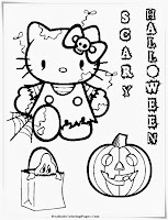 Hello Kitty Free Printable Halloween Coloring Pages