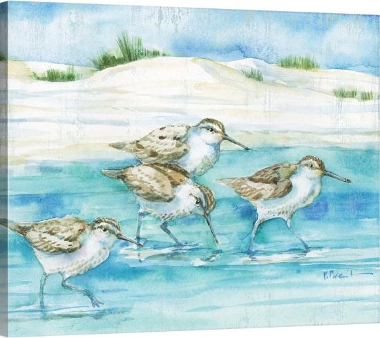 Scenic Beach Paintings Watercolors Paul Brent Canvas Art
