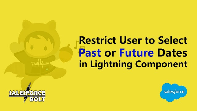 Restrict Past or Future date selection in Lightning Component Salesforce