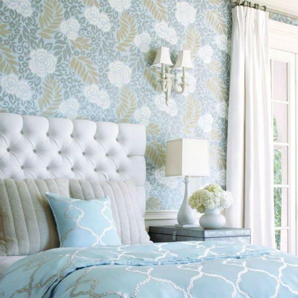 Motif Wallpaper Dinding Kamar Tidur Romantis Terbaru