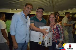 Secretario de educação Raimundo Macedo participou da festa das mães na praça da juventude  em Guarabira