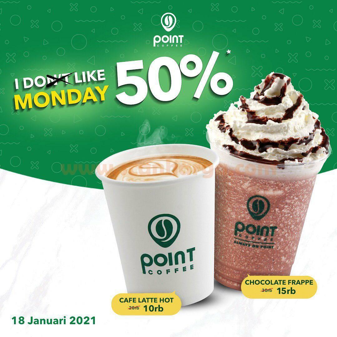 Point Coffee Promo I Like Monday Tiap Senin Diskon 50% 18 Januari 2021