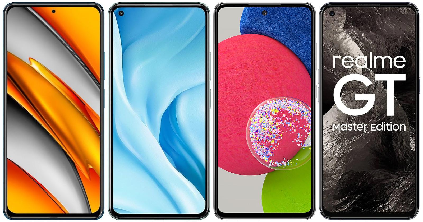 Xiaomi POCO F3 vs Xiaomi Mi 11 Lite 5G vs Realme GT Master Edition vs Samsung Galaxy A52s 5G