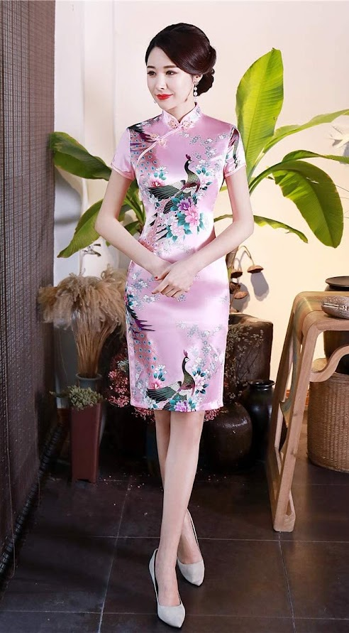 Women's Short Cheongsam Qipao Dresses