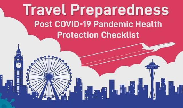 Travel Preparedness Post Covid-19 Pandemic Health Protection Checklist #infographic