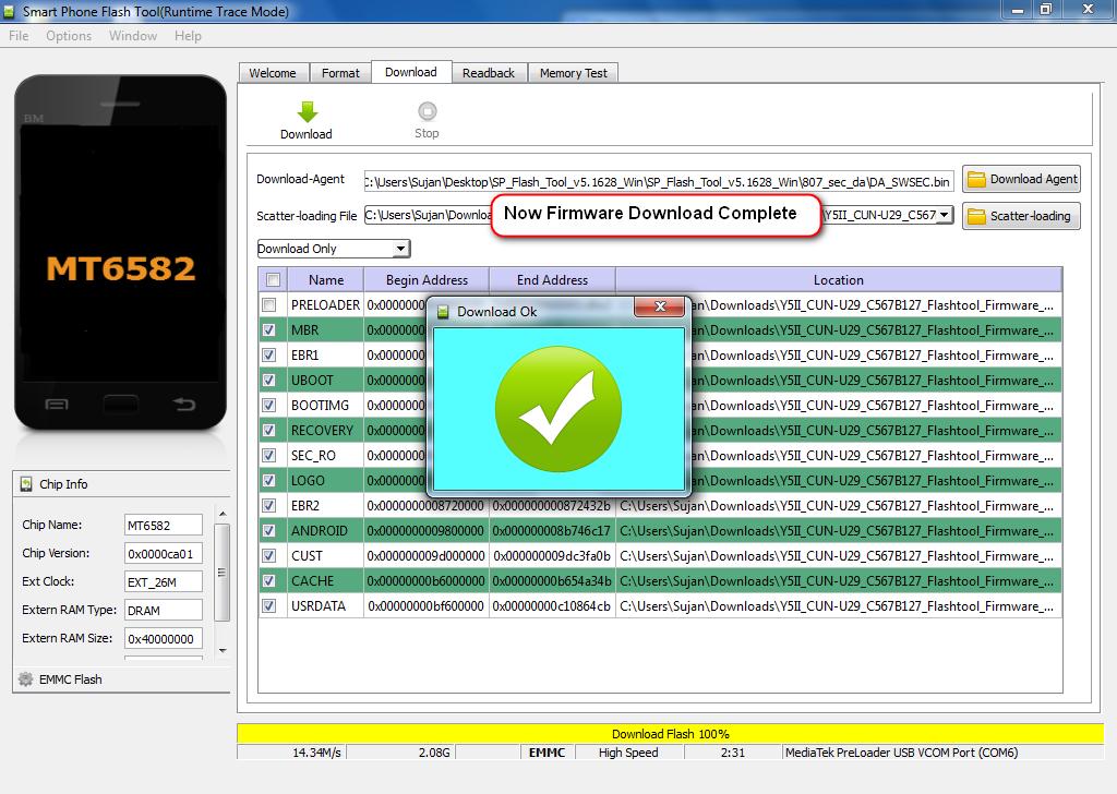 Huawei Y5ii CUN-U29 Dead Recover firmware and flashing guide - GSM