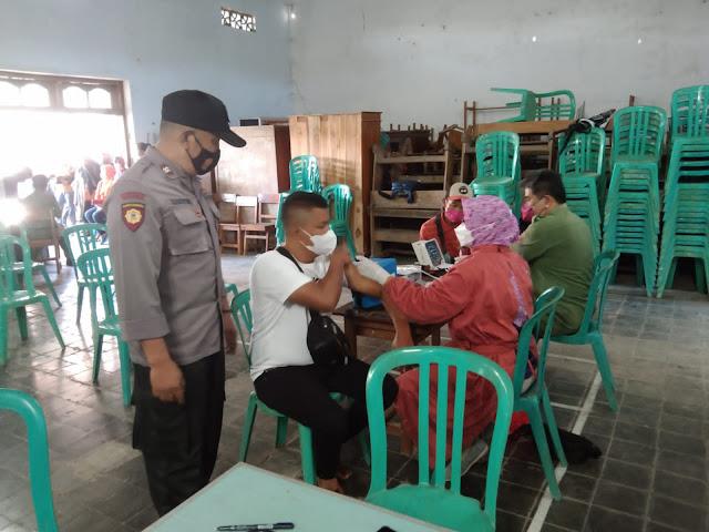 Lawan Corona, Vaksinasi Covid 19 terus dilakukan di Kecamatan Pulung