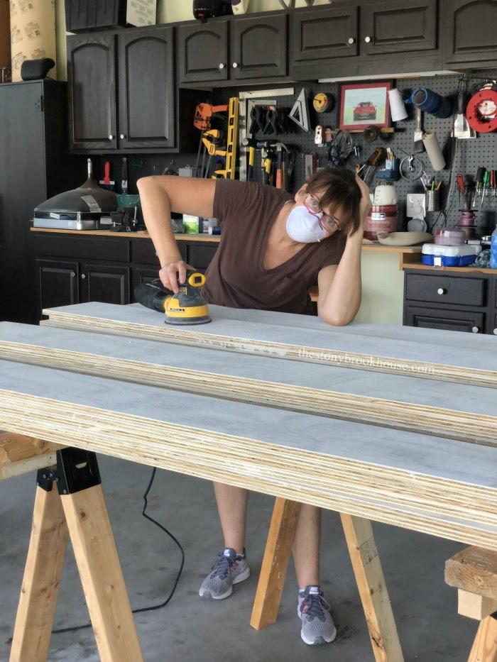 Sanding all 60 planks