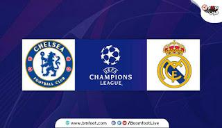 مباراة ريال مدريد و تشلسي بث مباشر