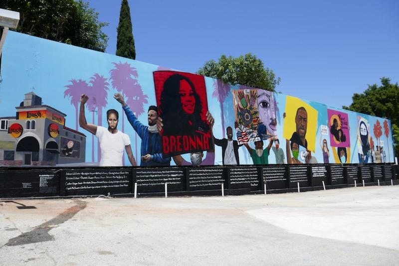 Black Lives Matter protest mural sunset boulevard
