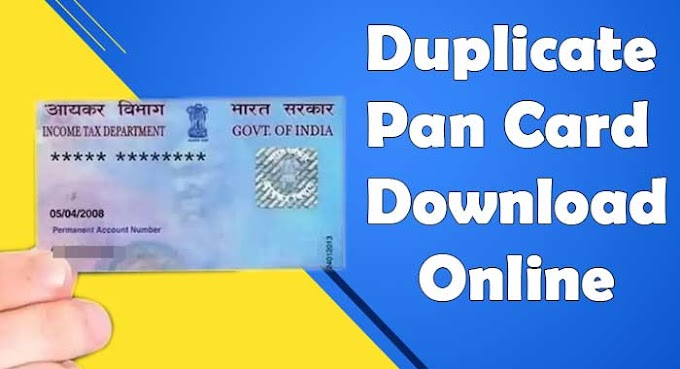 How to Duplicate Pan Card Online in 2021