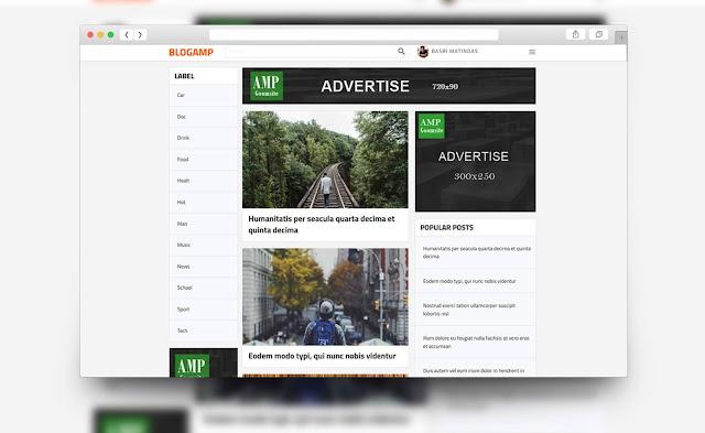 template amp html terbaru blogger